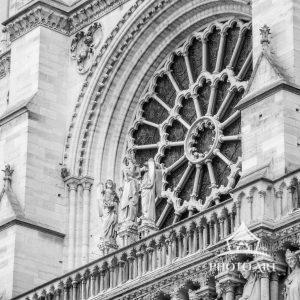 Notre Dame Rose Window exterior.