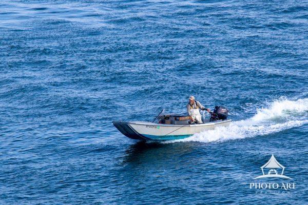 A true bayman returning with catch