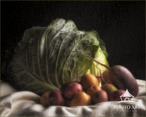Cabbage,Beets and Potatoes, was my first still life photograph, taken St Patricks Day 2020. I am