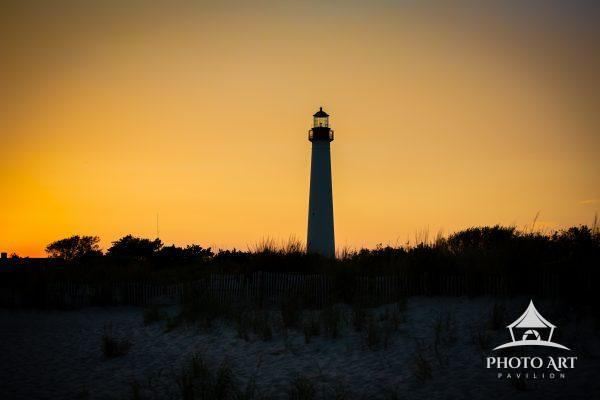 Cape May Lighthouse at sunset. 8/20