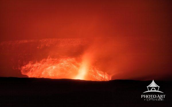 Although lava was not flowing into the ocean while I visited the Big Island of Hawaii, the Kilauea