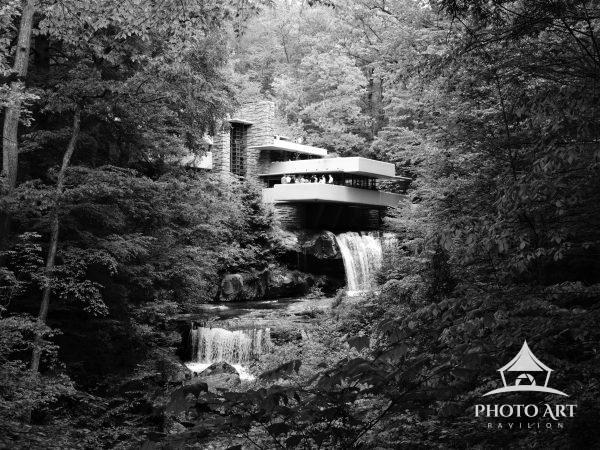 Frank Lloyd Wright's masterpiece, Fallingwater, located on Bear Run in western Pennsylvania.