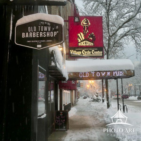 Walk the snow streets of Old Town Chicago without every leaving your house. This picture was taken