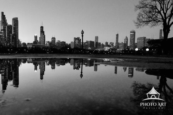 This photograph was taken at Northerly Island in Chicago, IL. It captures the duality of the Chicago