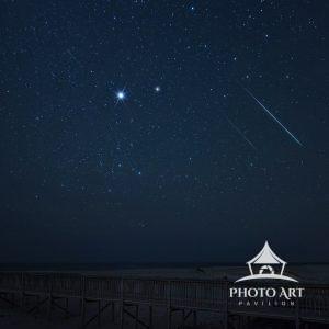 Geminid Meteors light up the December sky over the Assateague Island National Seashore