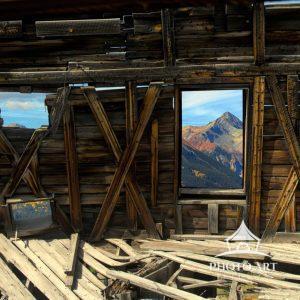 Dilapidated miners cabin in Alta Lakes, Telluride, Colorado