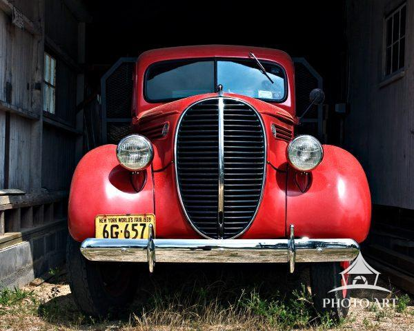 An old truck garaged in one of the old barns in the North Fork of Long Island.